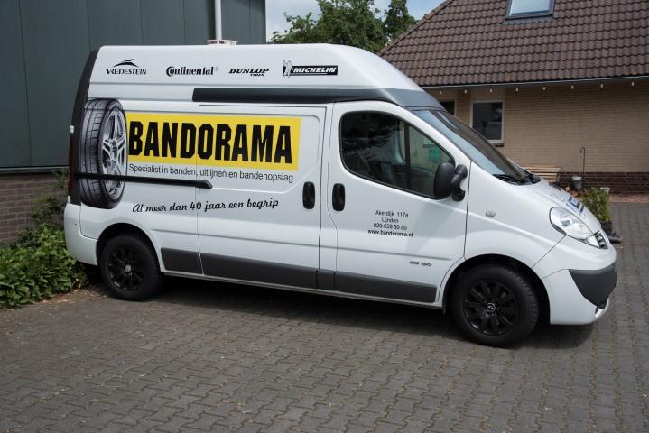 Bandorama bedrijfsauto