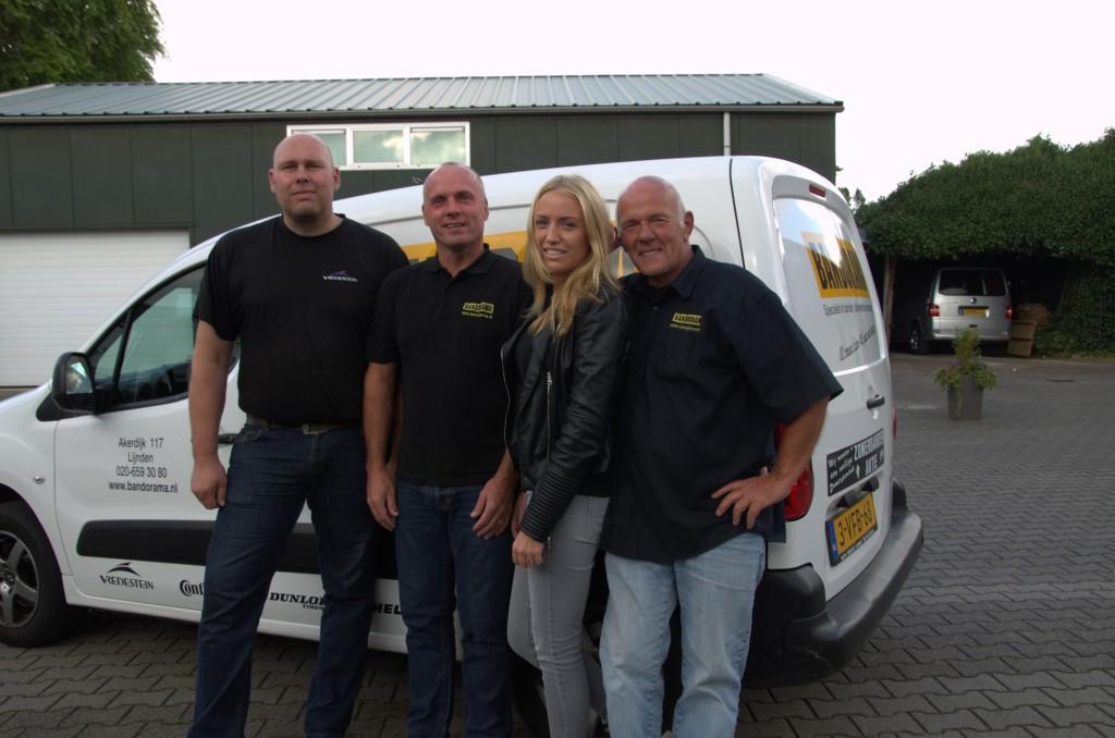 Van links naar rechts: Rene, Johan, Liesbeth en Frank