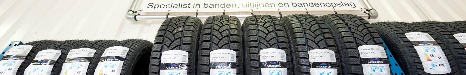 Bandorama levert Vredestein, Continental, Michelin, Bridgestone, Dunlop, Toyo Tires